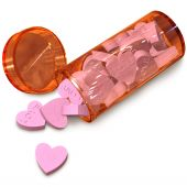 image of erectile dysfunction  - orange  tube with love pills for anti - JPG