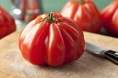 stock photo of boeuf  -  Whole fresh Coeur de Boeuf Tomato  - JPG