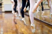 picture of ballerina  - Ballerinas in pointe position - JPG