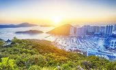 picture of typhoon  - Hong Kong beautiful sunset  - JPG