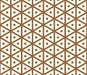 pic of hexagon pattern  - Brown sweet and vintage hexagon and circle seamless pattern on pastel background - JPG