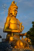 picture of tamil  - Statue of Lord Shiva with his lingam at Koneswaram temple an important hindu shrine in the Tamil region of Trincomalee Sri Lanka - JPG