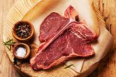 pic of t-bone steak  - Raw fresh meat T - JPG