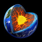 image of lithosphere  - if we do not love the our planet the earth is easy to get rid of us - JPG