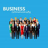 picture of wearing dress  - vector flat  illustration of business or politics community - JPG