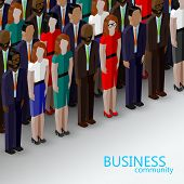 pic of wearing dress  - vector 3d isometric  illustration of business or politics community - JPG