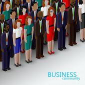 stock photo of wearing dress  - vector 3d isometric  illustration of business or politics community - JPG