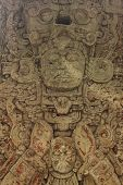 stock photo of mayan  - Carved stone stella of the king in Copan - JPG
