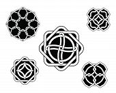 pic of celtic  - Set of original celtic black and white ornaments - JPG