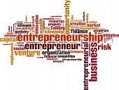 pic of entrepreneurship  - Entrepreneurship word cloud concept - JPG