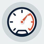 picture of speedometer  - Vector speedometer flat icon  - JPG