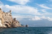 stock photo of crimea  - view of the Swallow - JPG
