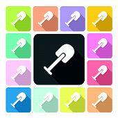 picture of shovel  - Shovel Icon color set vector illustration  - JPG