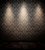 pic of swirly  - empty interior room with three spots - JPG