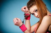 image of handcuff  - Teen crime arrest and jail  - JPG