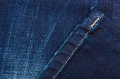 pic of denim jeans  - closeup detail of blue denim jeans trouses texture background - JPG