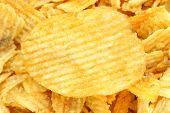 image of potato chips  - bright texture with delicious a potato chips - JPG