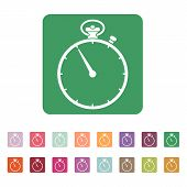 picture of stopwatch  - The stopwatch icon - JPG