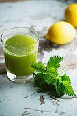 stock photo of nettle  - Nettle and Lemon Juice - JPG