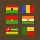 image of chad  - Flags of Ghana Chad Burkina Faso Niger Togo and Benin - JPG