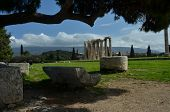 picture of olympian  - A view toward the Olympian Zeus temple in Athens - JPG