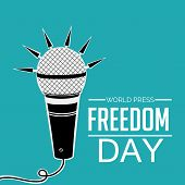 stock photo of freedom speech  - illustration for World Press Freedom day in blue background - JPG