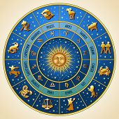 foto of scorpio  - Circle of the zodiac signs - JPG