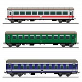 foto of passenger train  - Set of passenger train cars - JPG
