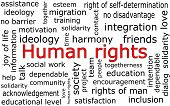 image of human rights  - informative human rights wordcloud on white background - JPG