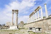image of akropolis  - Temple of Trajan in the ancient city of Pergamon Bergama Turkey - JPG