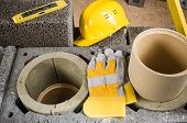 image of chimney  - Construction of modular ceramic chimney in the house - JPG