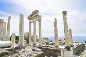pic of akropolis  - Temple of Trajan in the ancient city of Pergamon Bergama Turkey - JPG