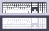 foto of qwerty  - Set of the PC keyboards with blank keys - JPG