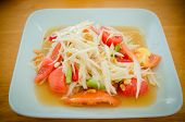pic of green papaya salad  - Somtum papaya salad delicious food in thailandClose - JPG