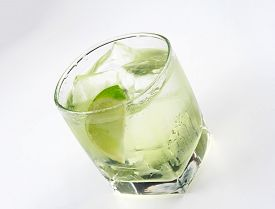 stock photo of vodka  - Vodka lime is a cocktail that contains vodka - JPG