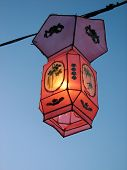 Cozy Light Of A Pink Chinese Lantern poster