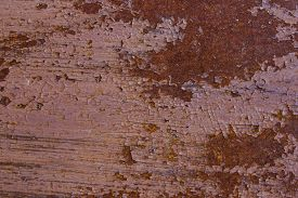 image of rusty-spotted  - Old  metallic surface background with rusty spots - JPG