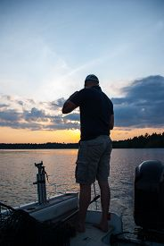 picture of musky  - Muskie Fishing Twitching on a Northern Ontario lake - JPG