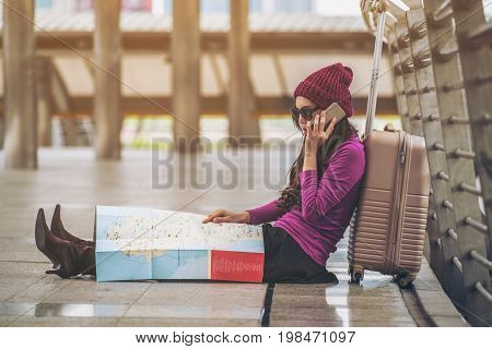 poster of Lost Traveller Making Call Asking For Help