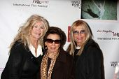 LOS ANGELES - MAR 26:  Connie Stevens, Nancy Sinatra Sr., and Nancy Sinatra arriving at the