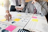 Administrator Business Man Financial Inspector And Secretary Making Report, Calculating Or Checking poster
