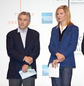 NEW YORK - APRIL 21 : Actor Robert De Niro  and Uma Thurman at Tribeca Film Festival opening April 2