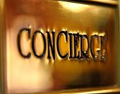 stock photo of clientele  - Concierge sign - JPG