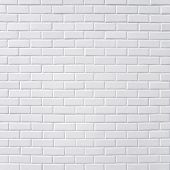 stock photo of brick block  - Square white brick wall background - JPG