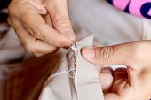 Tailor, Closeup, Dress, Thread, Workplace, Background, Business, Cloth, Clothes, Clothing, Color, Co poster