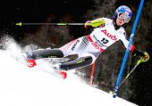 OFTERSCHWANG GERMANY JANUARY 27 Kathrin Zettel Austria Competing in the Audi FIS Alpine Ski World Cu