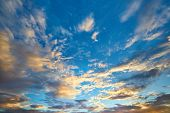 Beautiful Soft Clouds And Blue Sky Background poster