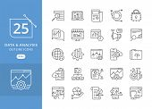 Simple Set Of Data Analysis Related Vector Line Icons. Data Analytic Icon Set, Included The Icons As poster