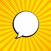 Comic Rays With Speech Bubbles. Comic Superhero Bubble. Comics Page Layout. Rays, Radial, Halftone.  poster