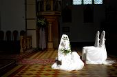 picture of unity candle  - Chairs in the church - JPG